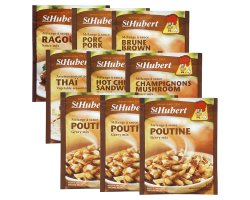3 sauces poutine + assortiment de sauce St-hubert