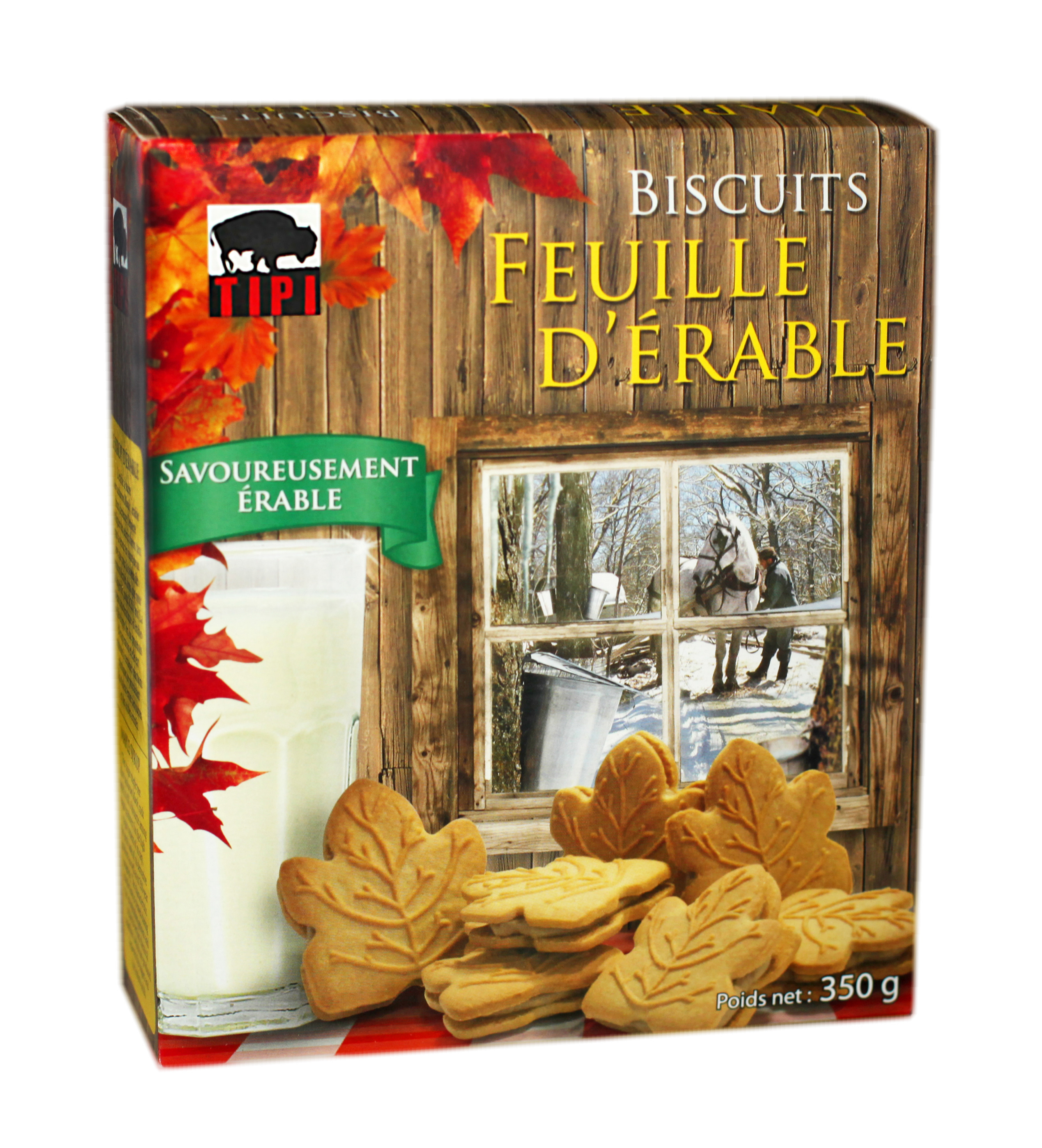 Biscuits feuille d'érable